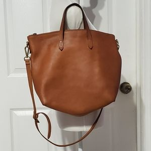 Madewell Brown/Tan Leather Tote Bag